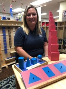 Montessori Kids Universe Homewood teacher Ms. Emily enjoys working with and teaching your children.