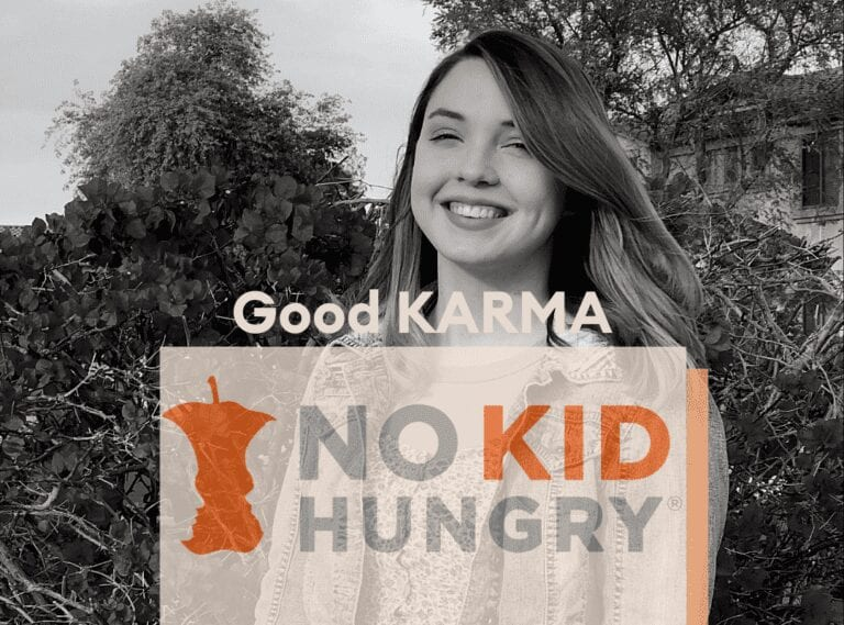 Good KARMA donation to No Kid Hungry